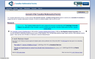 Canadian Mathematical Society Notes